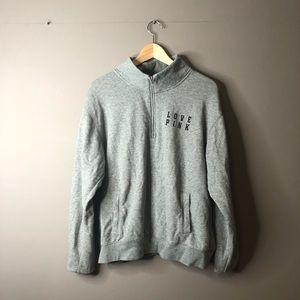 Victoria's Secret PINK Gray Half Zip Sweater L